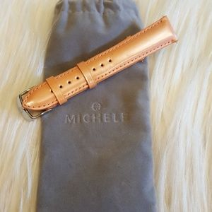 NWOT MICHELE  LEATHER WATCH  BAND